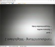 IfranView Screenshot Demobild 2: Handyausrichtung quer, Kamera rechts, Bild ist um 180 Grad gedreht dargestellt