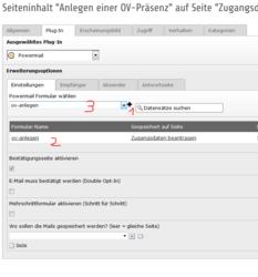 Screenshot Änderung Powermail